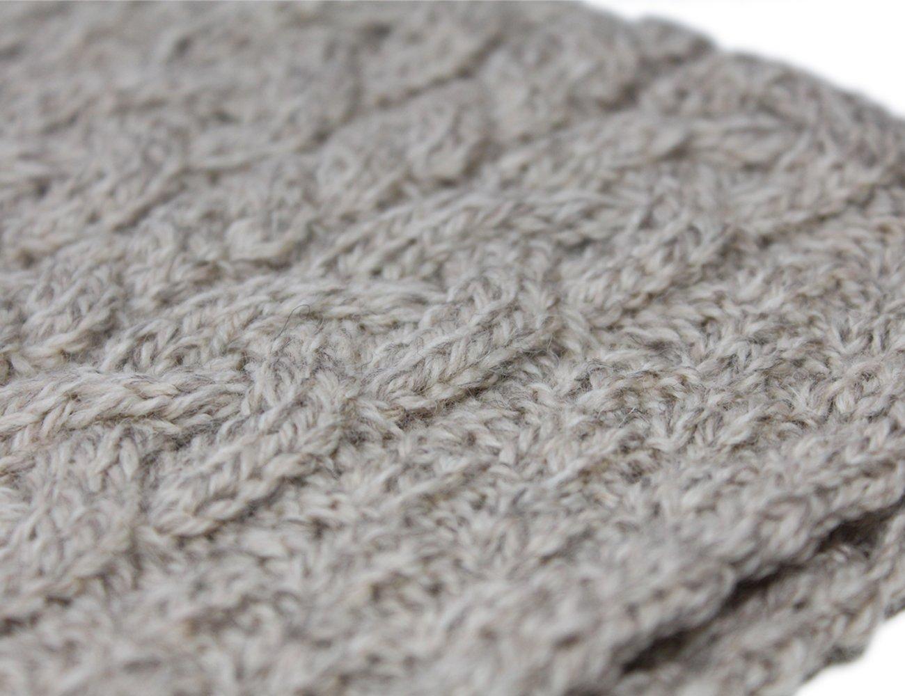 Fisherman Knit Poncho 100% Merino Wool Natural by Carraig Donn (Image #5)