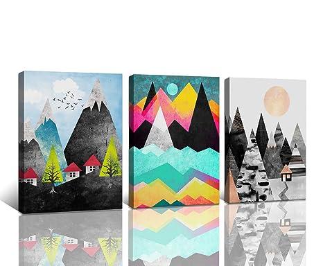 Abstract Mountain Wall Art