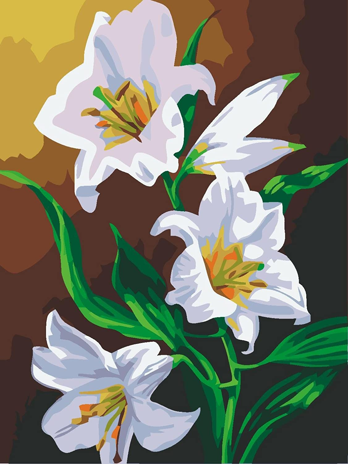 Amazon Cx 137beautiful Lily Flower Watercolor Hand Painted
