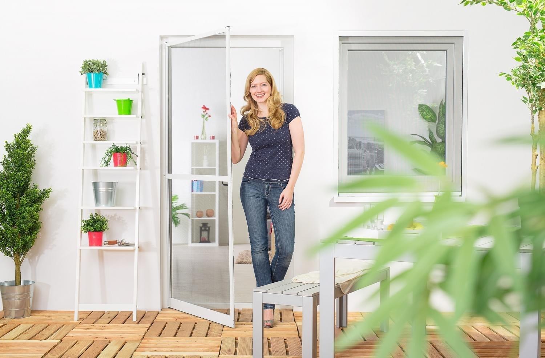 Insektenschutz Tür Master Slim + 100 x 210 cm mit Alurahmen in Weiß ...