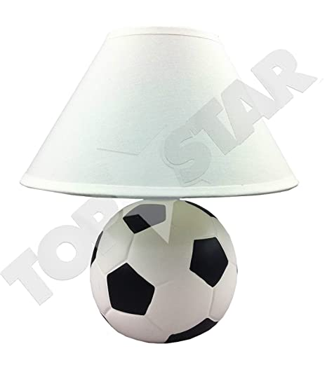 HOME DECOR 40 W CERAMIC BEDSIDE DESK SIDE TABLE CLASSIC FOOTBALL LAMP WITH  WHITE SHADE PERFECT