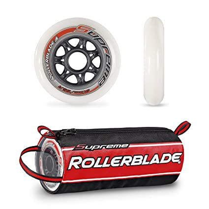 Rollerblade Supreme 90mm 85a Wheels White 90 Mm Headband Bundle