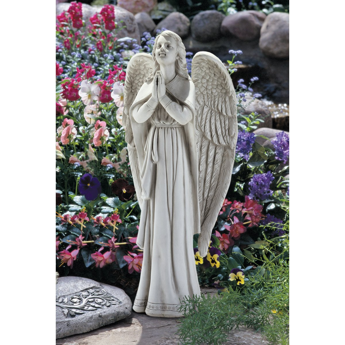 Design Toscano Divine Guidance Praying Angel Statue Size: Large