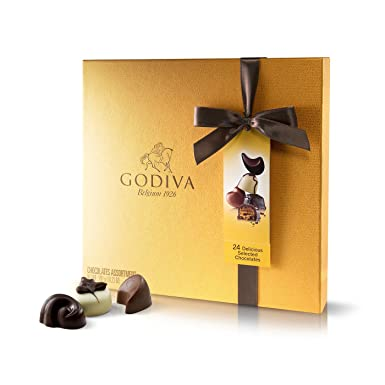 Godiva, Gold Rigid Box bombones pralines surtidos caja regalo 24 piezas, 290g: Amazon.es: Alimentación y bebidas