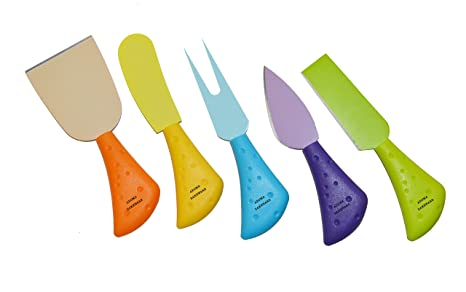 Amazon.com: Aroma Bakeware Colorful Cuchillos para queso (5 ...