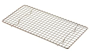 "Update International (PG510) 5"" x 10"" Rectangular Chrome-Plated Wire Pan Grate"