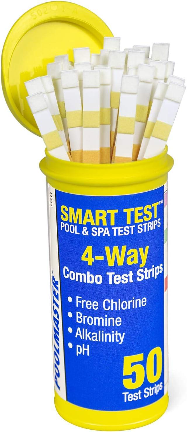Poolmaster 22211 Smart Test 4-Way Swimming Test Strips – 50 Pieces Amazon's #1 Best Seller