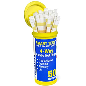 Poolmaster 4-Way Pool Water Chemistry Test Strips