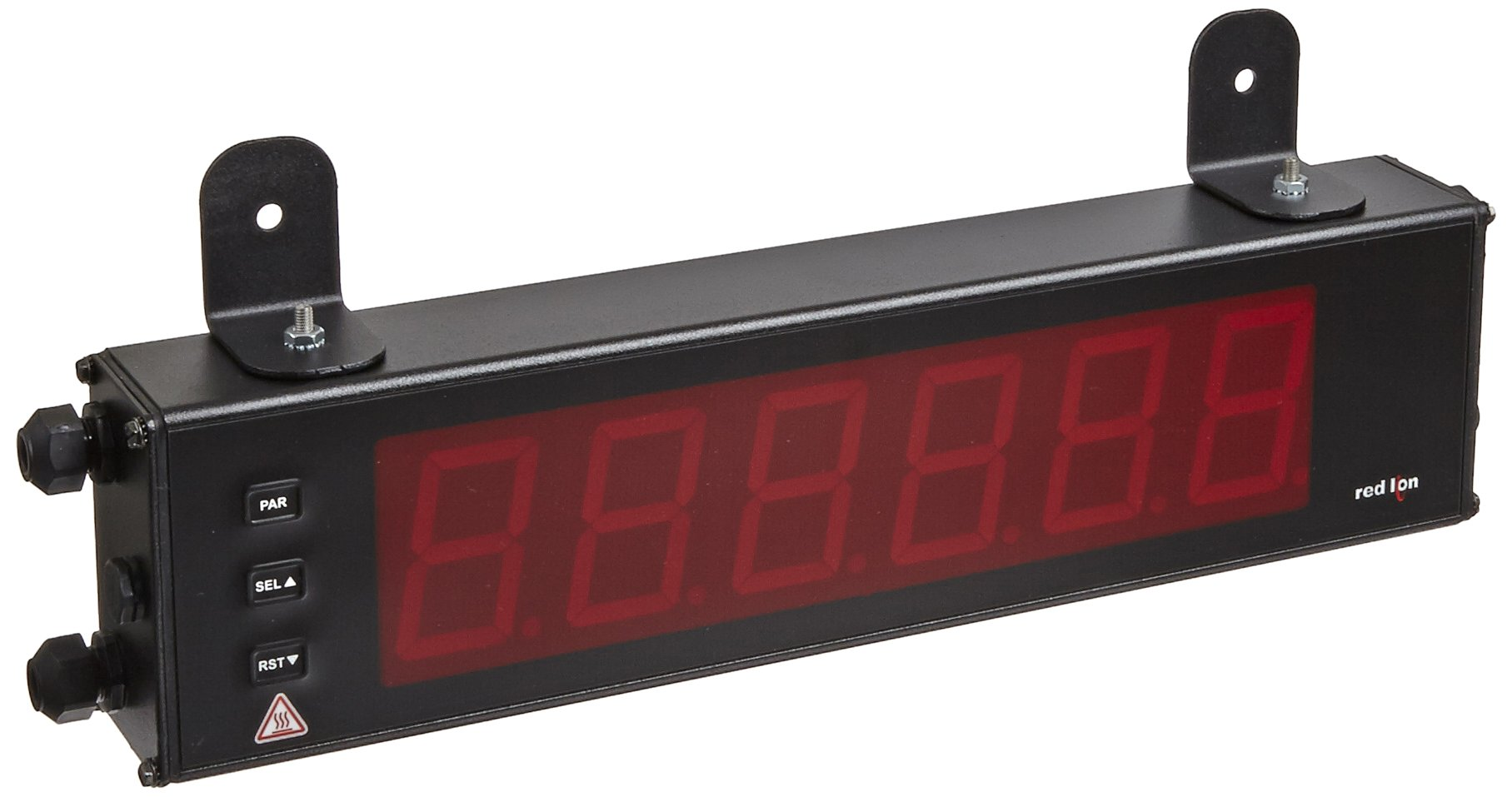 Red Lion Large Counter LED Display with Dual Relay Output and Serial Ports, 6 Digits, 2.25'' High Character, 50-250 VAC/DC,  50/60 Hz by Red Lion