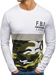 Sweat-shirt chemise manches longues Pull Pull col rond Casual Army Hommes Bolf 1a1 Camo
