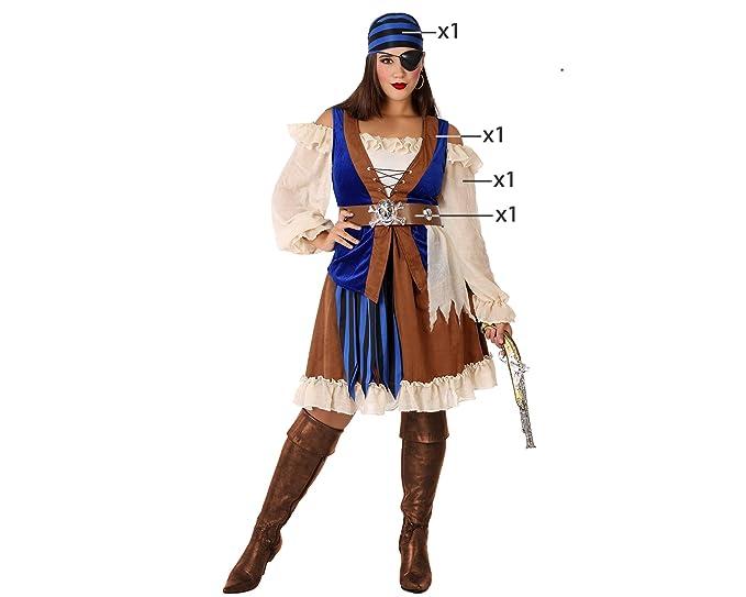 Atosa-61536 Atosa-61536-Disfraz Pirata Marron-Adulto Mujer ...