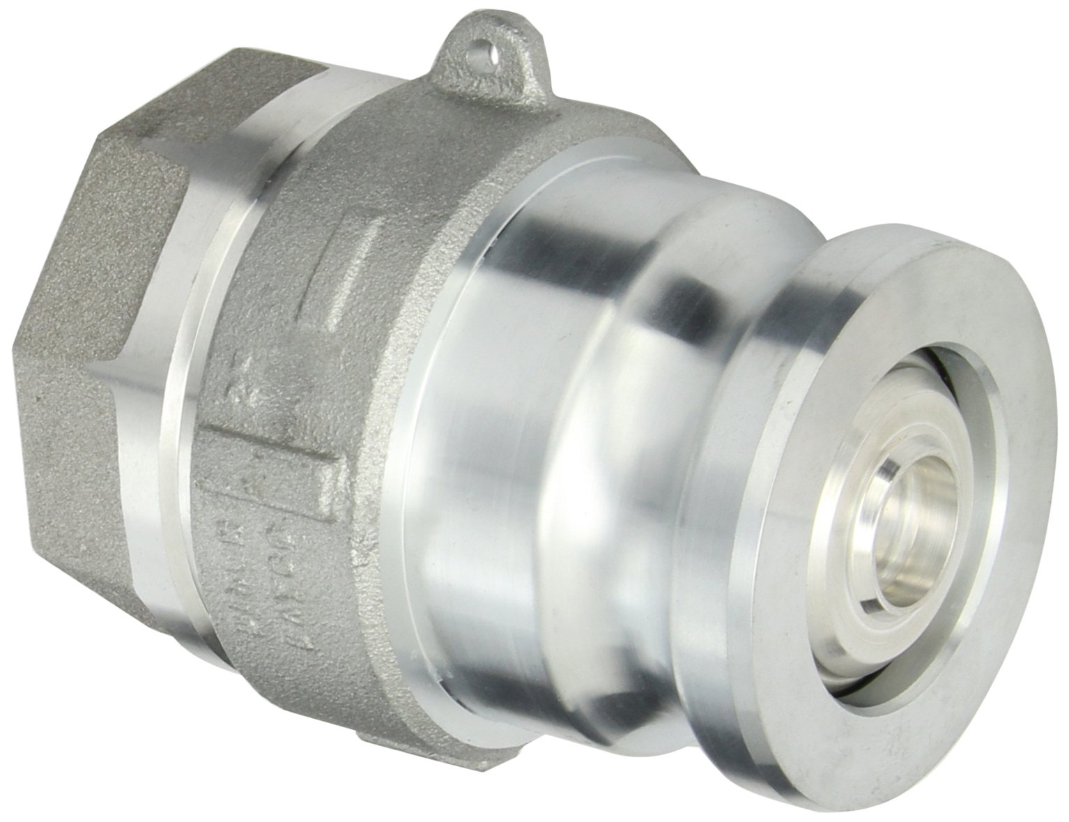 Dixon DBA12-200 Aluminum Dry Break Cam and Groove Dry Disconnect Hose Fitting, 2-1/2'' Plug x 2'' NPT Female