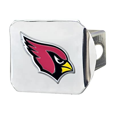 "FANMATS NFL Arizona Cardinals Metal Hitch Cover, Chrome, 2"" Square Type III Hitch Cover: Automotive"
