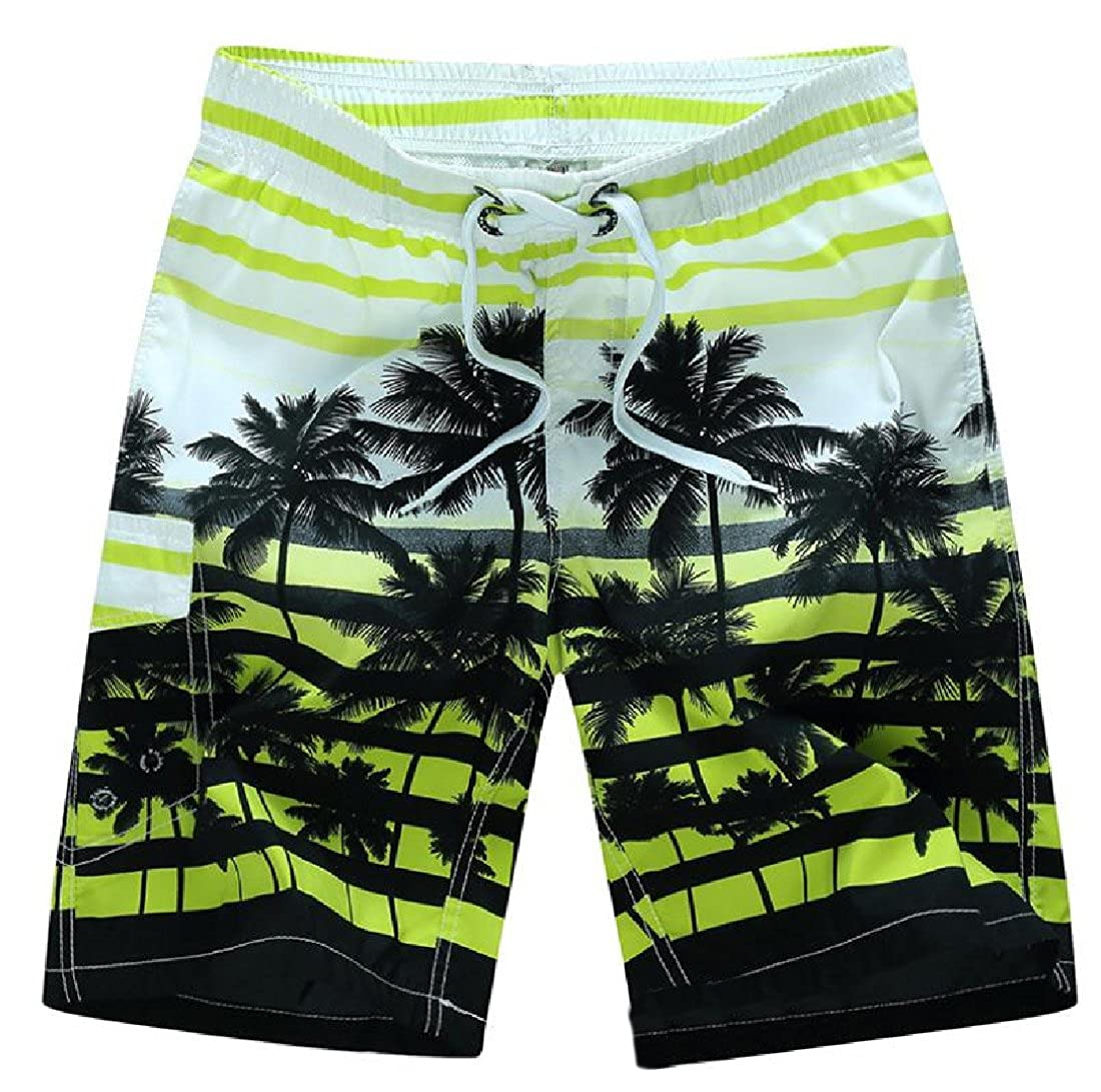 SportsX Men Tropical Summer Daily Active Patterned Bermuda Shorts