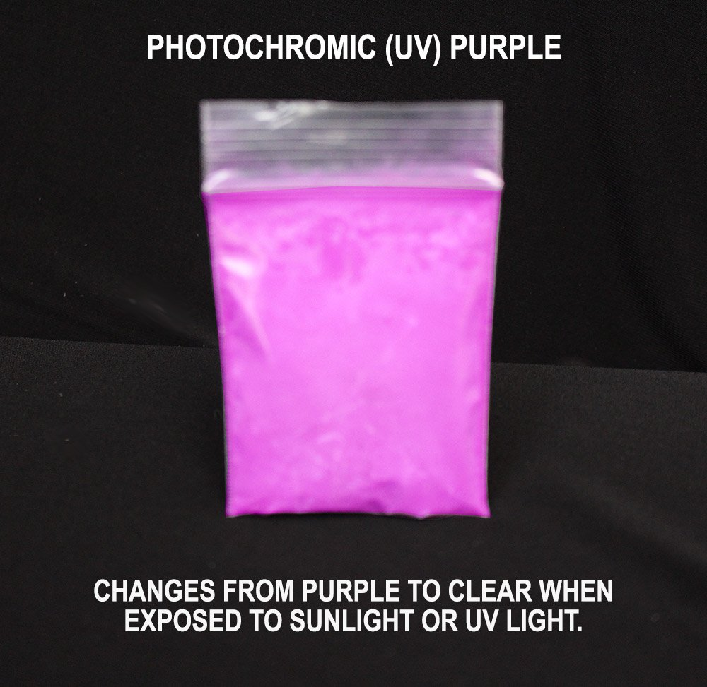 Amazon Purple Photochromic Uv Pigment Changes From Clear