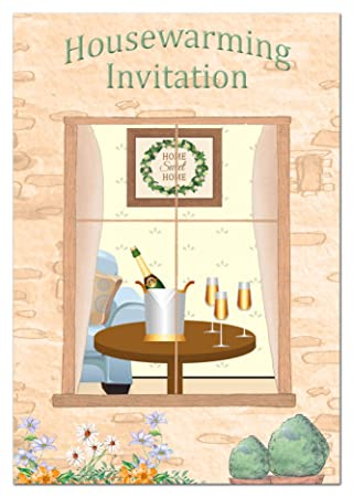 Housewarming Party Invitations Pack Of 16 Cards With