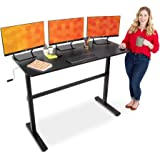 Stand Steady Tranzendesk 55 Inch Standing Desk | New & Improved! | Height Adjustable Sit to Stand Workstation with Removable