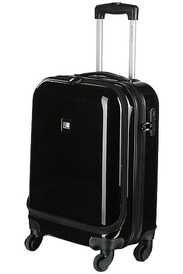 e69dab999 Nasher Miles New York Plus Polycarbonate 48 cms Black Hardsided Cabin  Luggage (NM S1090 Black