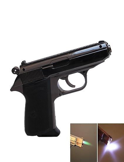 hutz mauser pistol shaped jet flame gun cigarette lighter metal