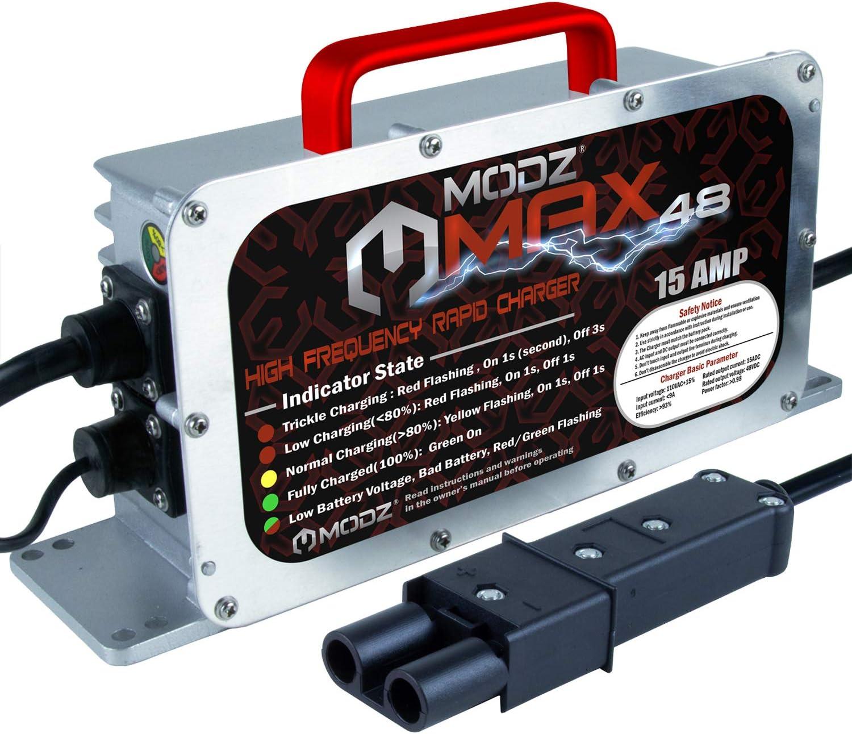 MODZ Max48 15 AMP Yamaha G19 - G22 Battery Charger for 48 Volt Golf Carts