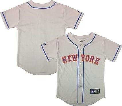 purchase cheap 48b69 12b2f Amazon.com: New York Mets Blank Wordmark Gray Youth ...