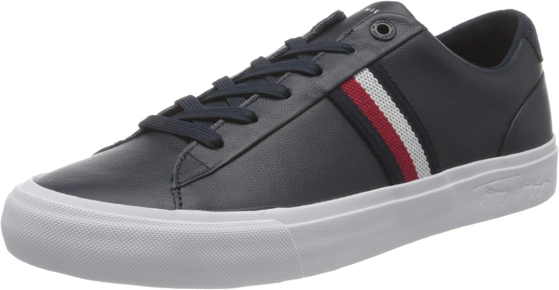 Tommy Hilfiger Corporate Leather Sneaker, NEAKER Cuero Hombre
