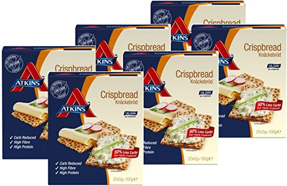 Atkins Crackers Advantage Crisp Bread - 100 gr (paquete de 6 unidades): Amazon.es: Alimentación y bebidas