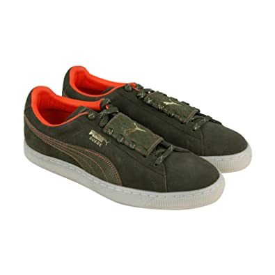 a2977d0115a5 Image Unavailable. Image not available for. Color  PUMA Epic Remix Stch  Mens Green Suede Lace Up Sneakers ...
