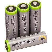 4-Packs AmazonBasics AA High-Capacity Rechargeable Batteries