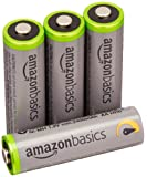 AmazonBasics High Capacity AA Pre-Charged Rechargeable Batteries 2500 mAh / minimum: 2400 mAh [Pack of 4] - Outer Jacket May Vary
