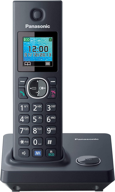 Panasonic KX-TGA785EXB - Teléfono inalámbrico supletorio (gran alcance, Supletorio Adicional, Base Fina y Compacta, Teleconferencia) color Negro: BLOCK: Amazon.es: Electrónica