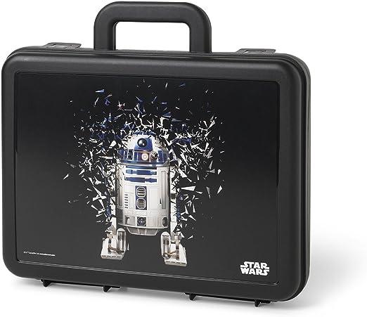 Star Wars Maleta, R2D2, estuche de almacenamiento portátil, maletín, 4,2 L, Negro,1 pieza: Amazon.es: Hogar