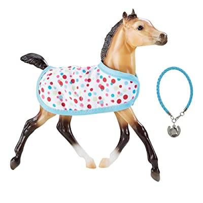 "Breyer Traditional Series Milo - Foal with Friendship Bracelet | Model Horse Toy | 7.5"" x 7.5\"" 