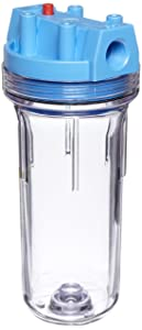 """Pentek 150071 3/4"""" #10 Standard Clear Filter Housing with Pressure Relief"""