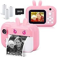 Instant Camera for Kids Digital Camera for Girls Toddler Camera with Print Paper, 40MP Kids Video Camera Child Selfie…