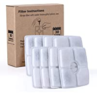 Cat Water Fountain Replacement Filters,Cotton Activated Carbon Replacement Water Fountain Filter for Flower Pet Water…