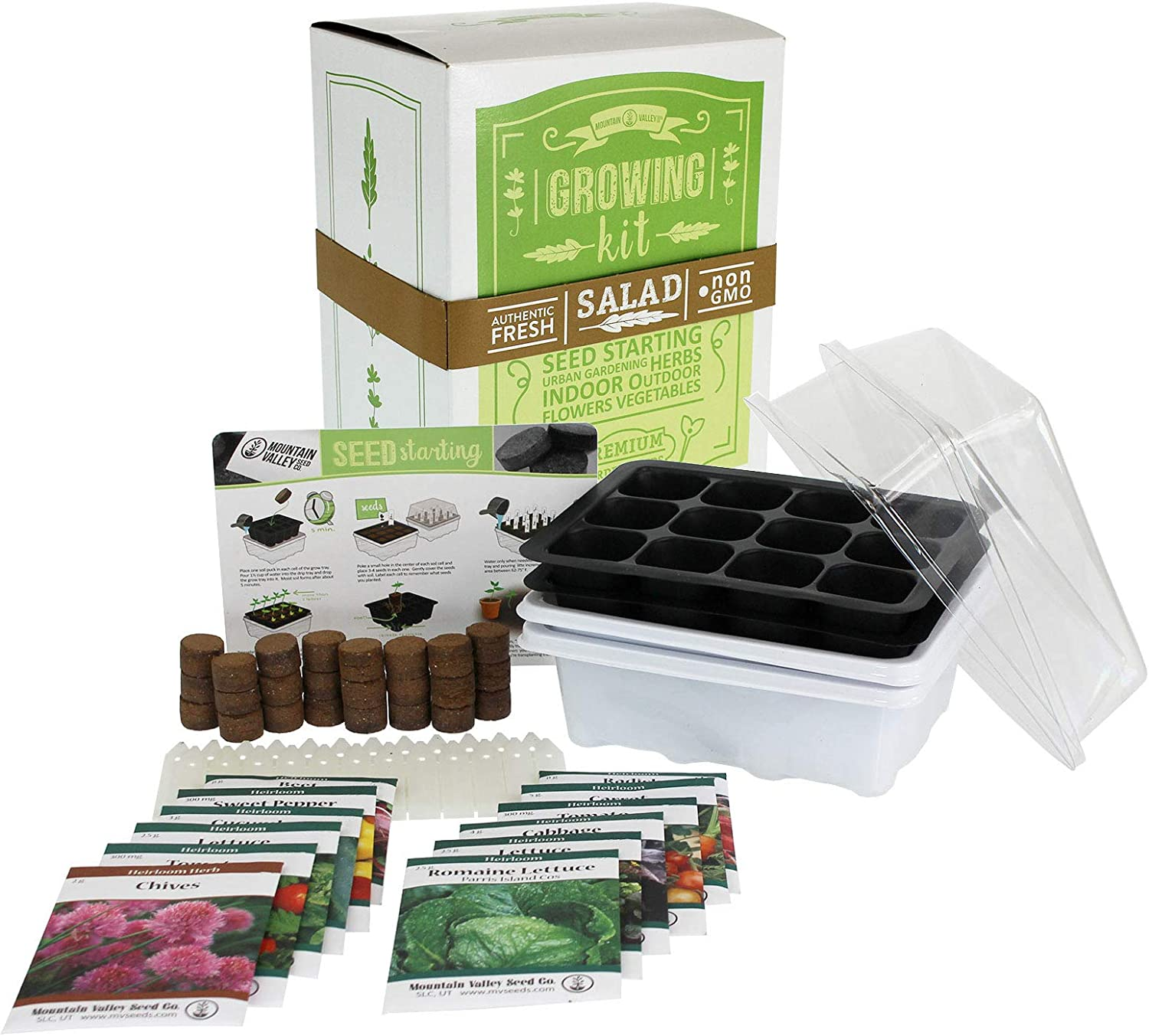 Mexican Salsa & Hot Sauce Making Kit | Deluxe | 12 Non-GMO Seed Varieties | Mexican Seeds for Salsa, Pico De Gallo, Hot Sauce | Includes Chili Peppers, Tomato, Onion, Garlic Chives, Tomatillo, More