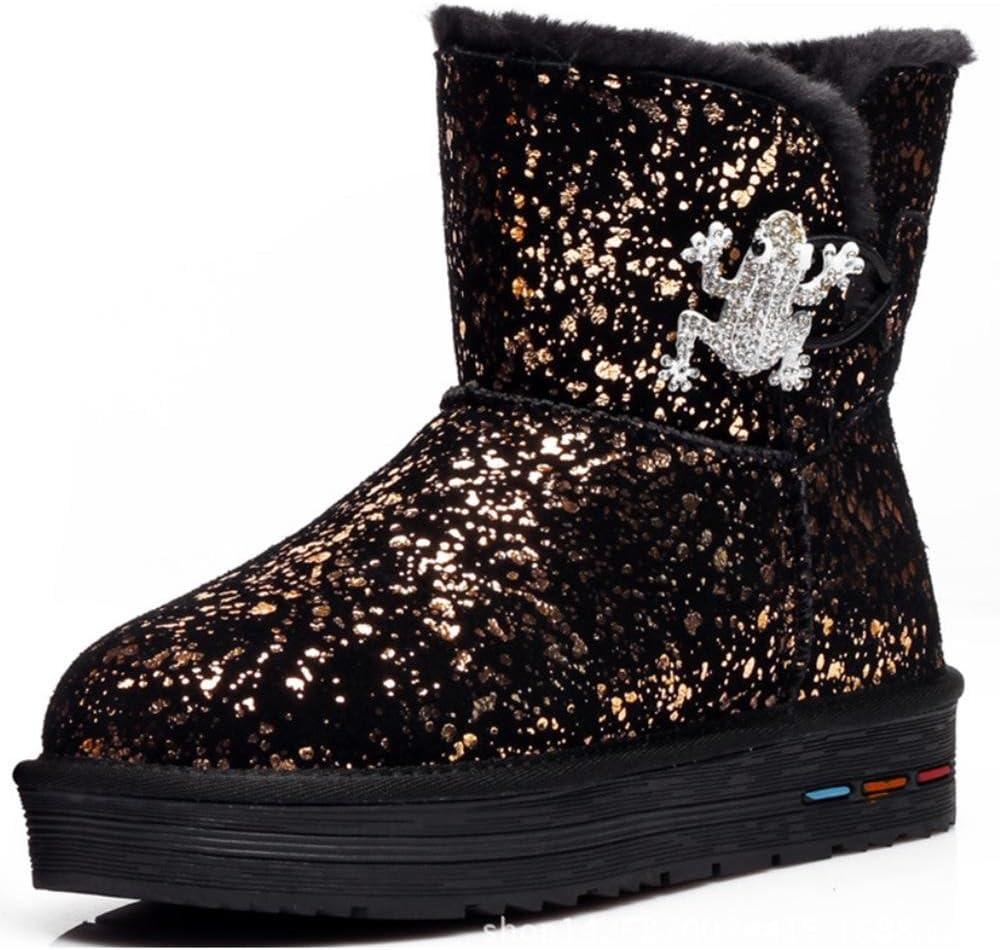 SHANGXIAN Women's Snow Boots Sparkle