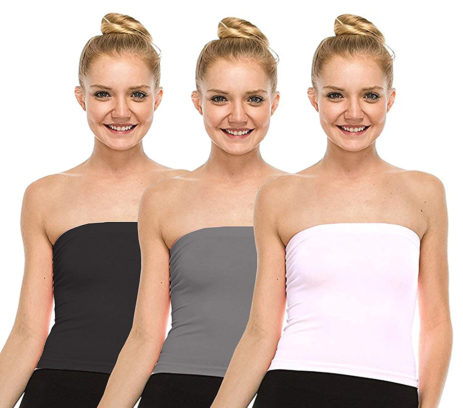 85e261ee53 Fashion Line Women s Cotton Tube Top  Amazon.in  Clothing   Accessories