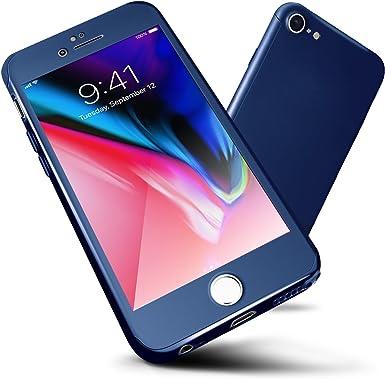 Funda iPhone 6s/6,ORETech Carcasa iPhone 6/6s Case Cover 360 Grados con [2- Pack Transparent Protector de Pantalla de Vidrio Templado][Ultra-Delgado] [Ligera] Case iPhone 6/6s -4.7 Pulgada: Amazon.es: Electrónica