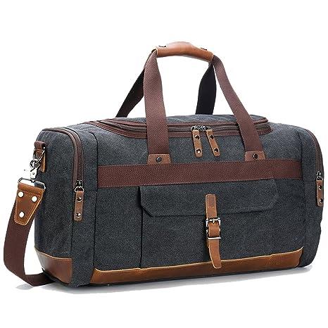 1352cb887b BLUBOON Canvas Travel Bag Unisex 44L  Amazon.co.uk  Luggage