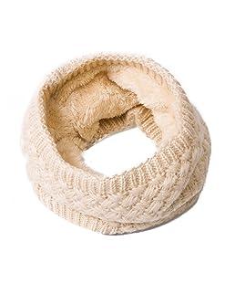 Godea 1pc laine doublure écharpe cercle col rond collier court femme fille