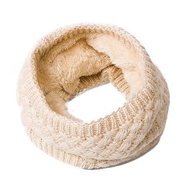 4cb2dc4df4c5 Godea 1pc laine doublure écharpe cercle col rond collier court femme fille
