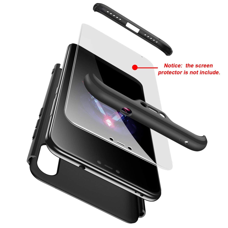 MYLB Xiaomi Redmi 6 Pro Case/Xiaomi Mi A2 Lite case,360 Degree Full Body Coverage Protection [3 in 1] Anti-Scratch Detachable PC Hard Cover Protective ...