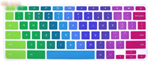 Silicone Laptop Keyboard Cover Skin for Acer Chromebook R11 Cb3 131 Cb5 132T Cb3 131 132 / for Acer Chromebook R13 Cb5 312 Cb5,Rainbow
