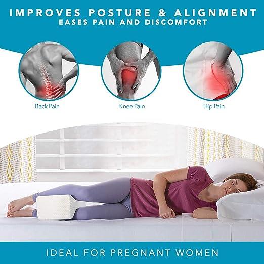 Getone Almohada para Rodillas para Dormir, ergonomico ortopédica cojin Entre Las piernas Almohadas para Pierna, Rodilla, contra Dolor de ciática, ...