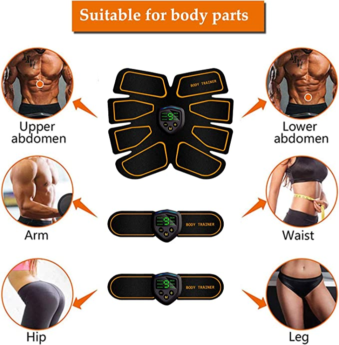Details about  /Fitness Instrument Digital Display Charge EMS Abdominal Muscle Sticking Massage