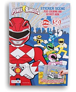 Power Rangers Sticker Scenes Coloring And Activity Book