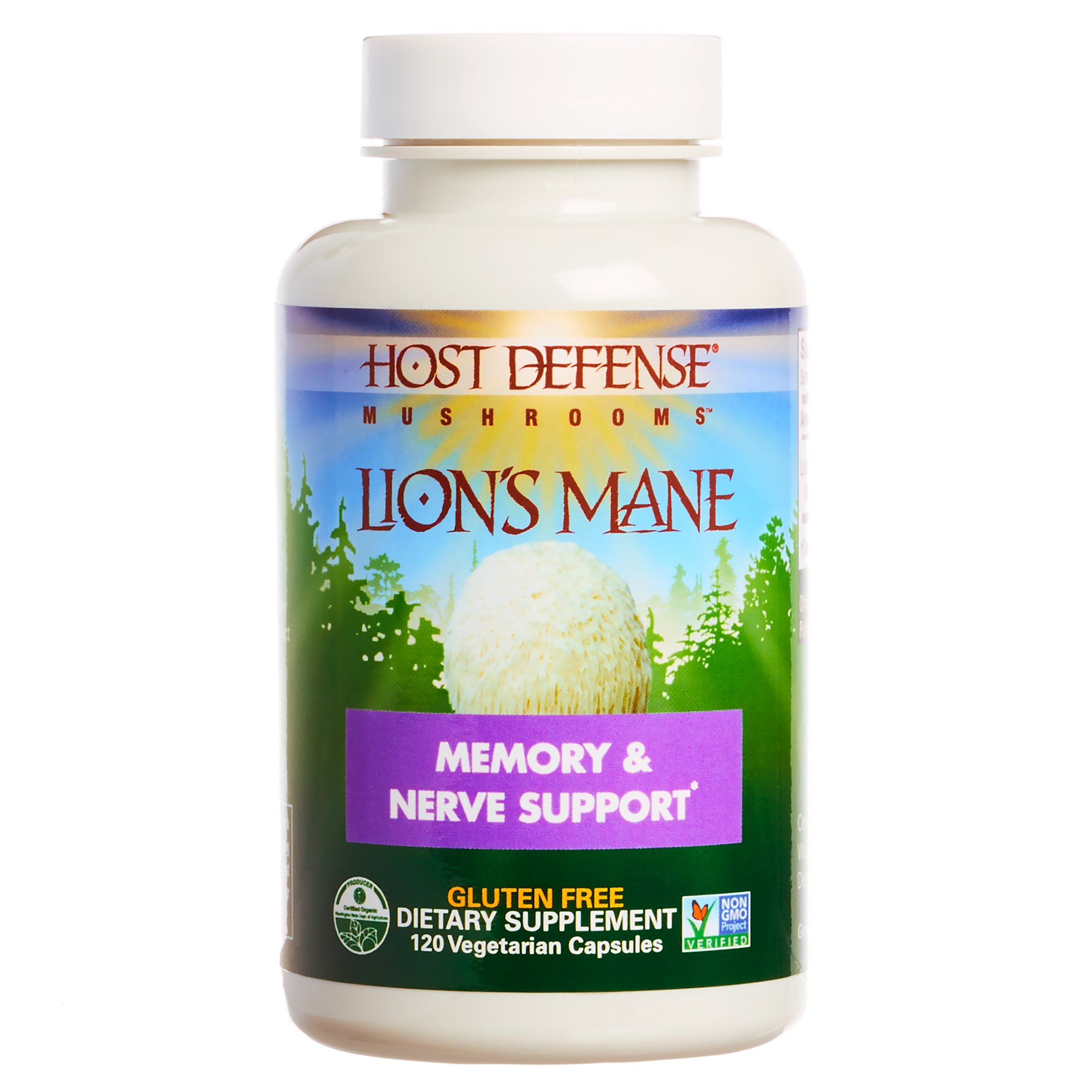 Host Defense - Lion's Mane Capsules, Mushroom Support for Memory & Nerves, 120 Count (FFP)