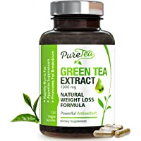 Green Tea Extract Max Potency 98% with EGCG 1000mg for Healthy Weight Loss - Boost Metabolism for Heart - Antioxidants for Immune System - Gentle Caffeine - Fat Burner Supplement Pills - 120 Capsules